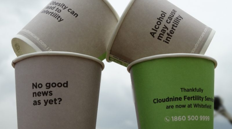 Awareness on Infertility-Paper Cup advertising Campaign-Gingercup