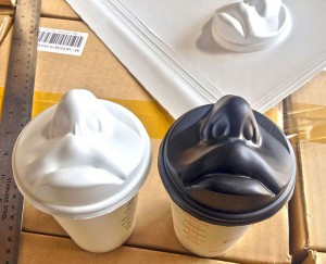 paper cup with lips