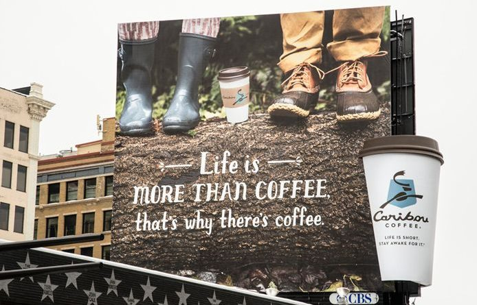 Business Advertisements On Coffee Cup vs Bill Board-Gingercup