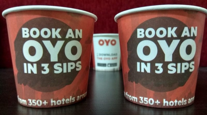 Cup branding for OYO Rooms