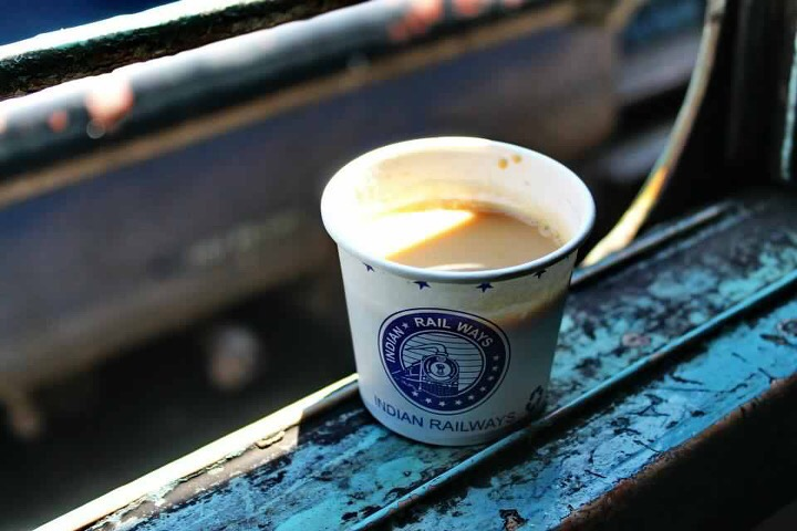 paper cup branding in railways stations