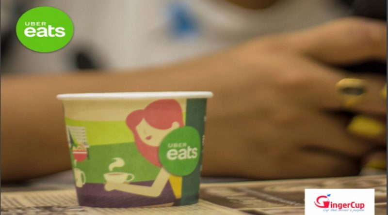 UberEats Food-Tech App's Promotion-Sponsored Paper Cups-Gingercup