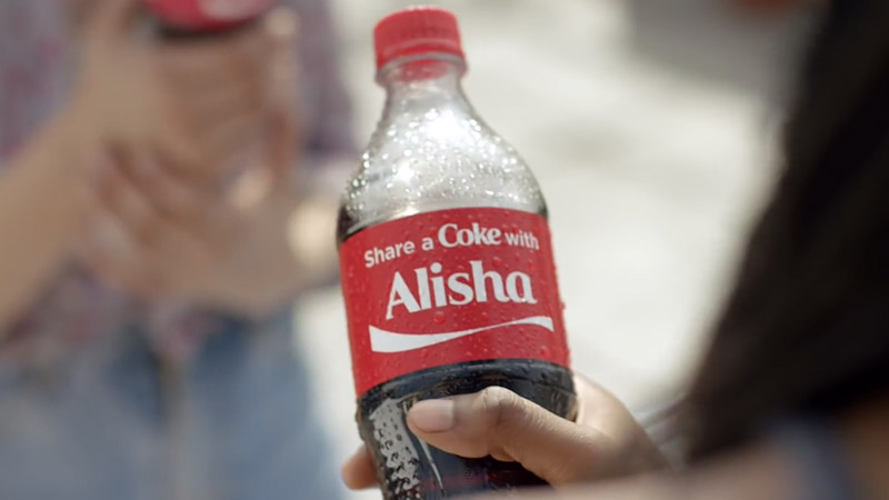 Coke bottle personalised marketing to attract millennials